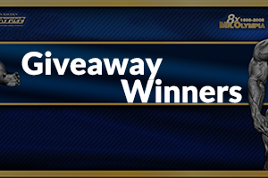 Ronnie Coleman Signature Series Giveaway Winners