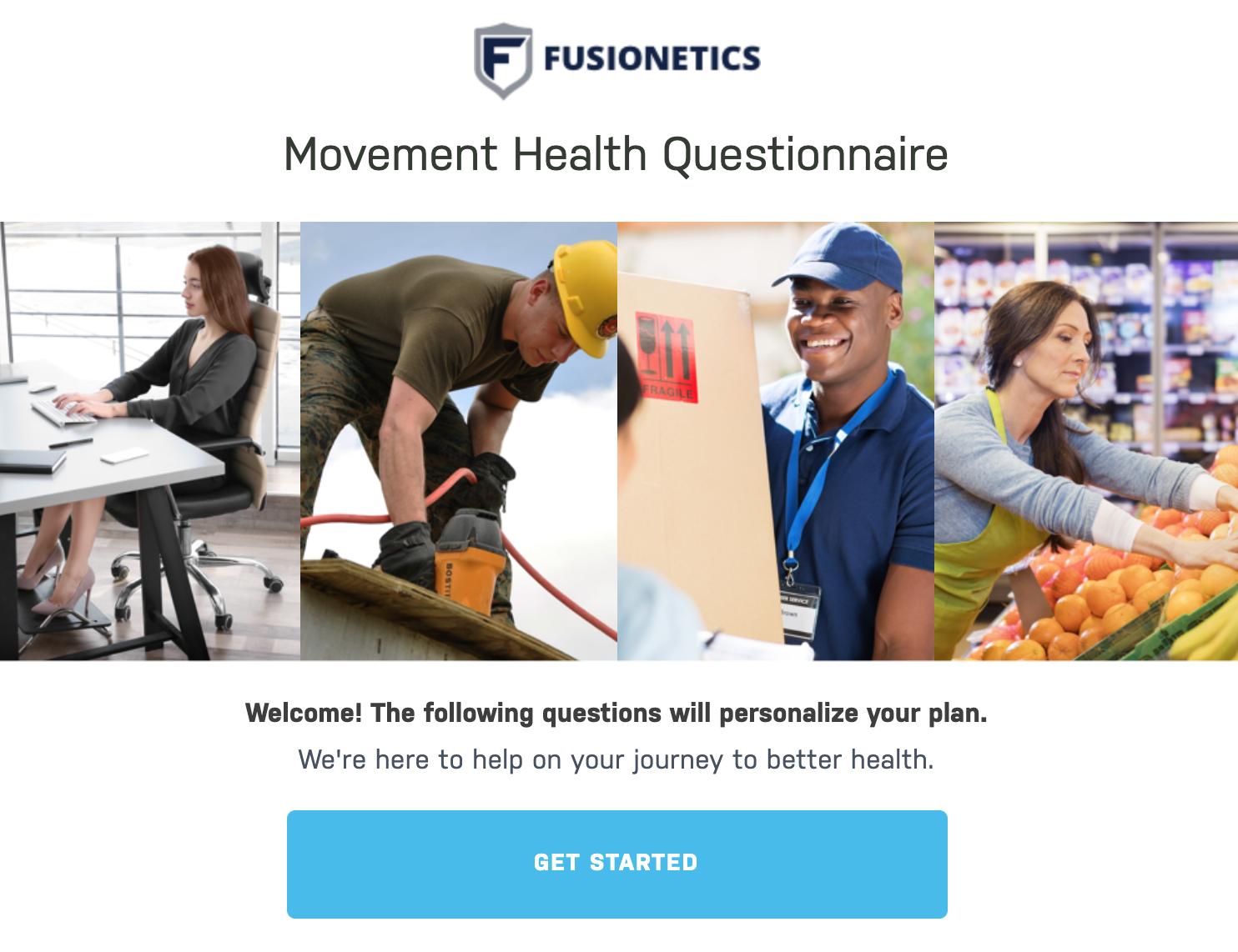 Movement Health questionnaire